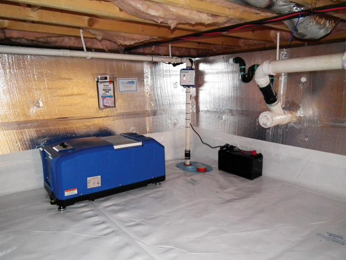 vapor barrier and insulation system installed in a home in bemidji